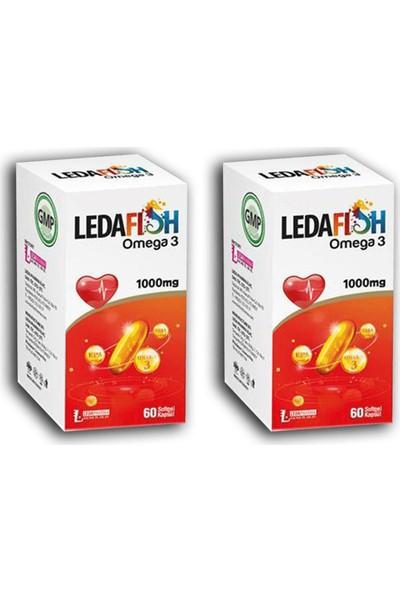 Ledapharma Ledafish Omega 3 1000MG 60 Softjel Kapsül x 2 Adet