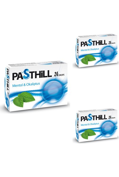 Ledapharma Pasthill Mentol Okaliptus 24 Drops - Pastil x 3 Adet