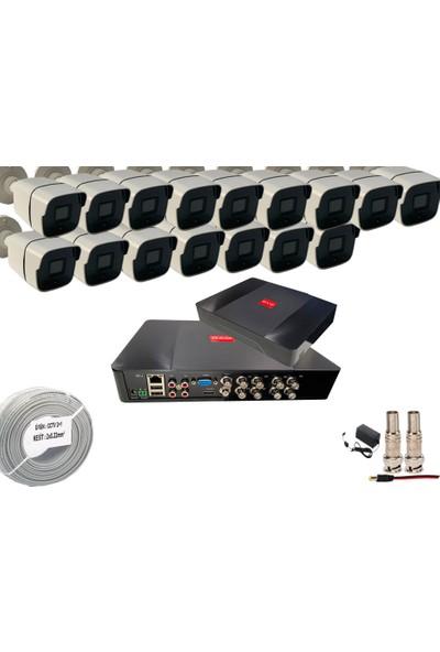 Promise 16 Kameralı Güvenlik Seti 20 Nano LED 1080P Full Hd