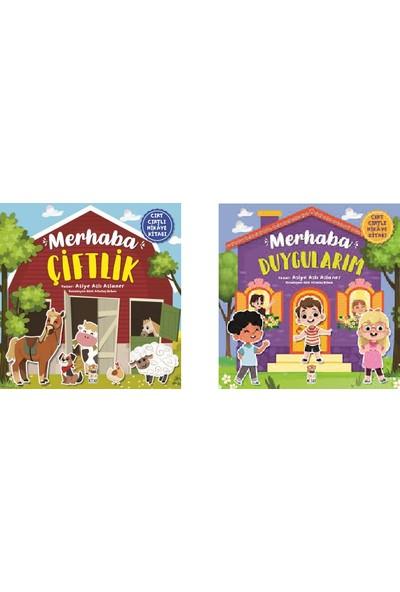 Merhaba Çiftlik - Merhaba Duygularım Cırt Cırtlı Hikaye Kitapları 2 Kitap Set