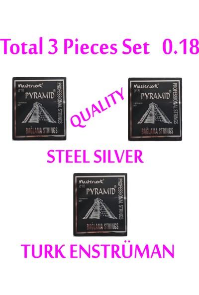 Pyramid 018 Kısa Sap Bağlama Teli Set Halinde Tel , Kapo , Tezene , Burgu , Eşik