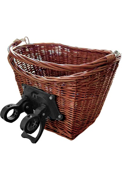 Epic Aparatlı Hasır Bisiklet Sepeti Kahve 31.8mm Uyumlu SPT-400