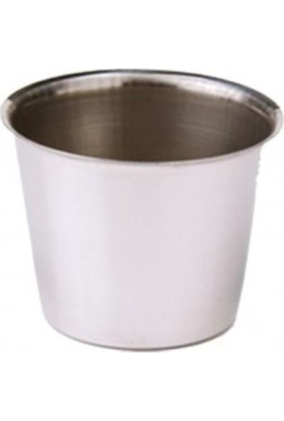 Özbir Paslanmaz Çelik Krem Karamel Kabı 6 Adet ( 6,5 x 6 cm )