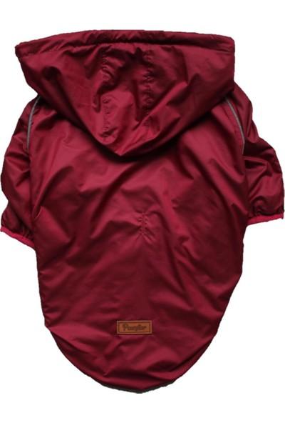 Bordo Maroon Raincoat Mont Büyük Irk Yağmurluk Köpek Kıyafeti 7xl