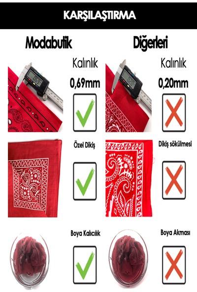 Moda Butik Kadın Etnik Desenli Bandana 50X50 Kmavi DG0167-22