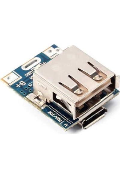 Emay Center Powerbank Devresi - Lityum Pil Şarj - 5V 1A USB Boost Modül Lion