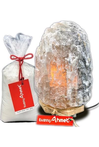 Tuzcu Ahmet 3-4 kg Çankırı Doğal Tuz Lamba 1 kg Kaya Tuzu Hediyeli