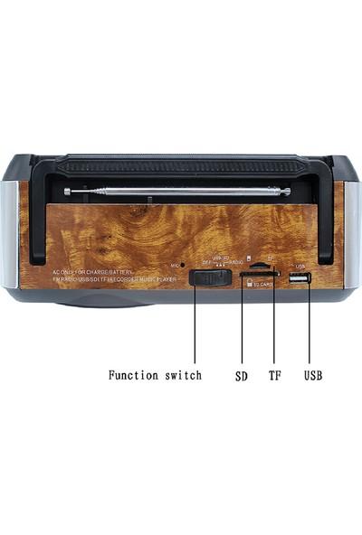 Mkey RDL-5864 Nostaljik Müzik Kutusu Kumandalı Bluetooth'lu Mp3 Çalar Fm Radyo