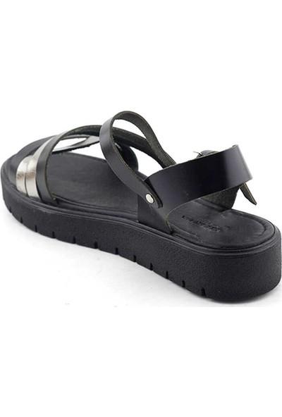 Vural 336 Deri Kadın Sandalet