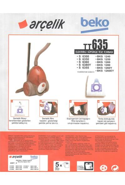 E-Ticaret Arena Arçelik S 6360 Süpürge Modeli 5 Adet Toz Torbası TT635
