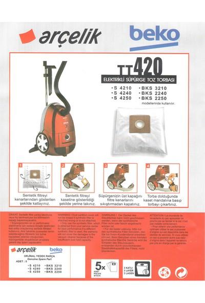 E-Ticaret Arena Beko Bks 3210 Süpürge Modeli 5 Adet Toz Torbası TT420