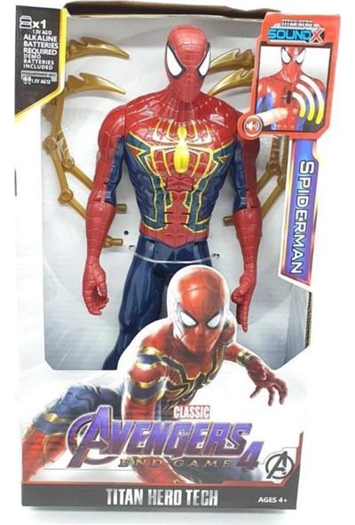 Avengers Örümcek Adam Spiderman Oyuncak Karakter Figür Sesli Işıklı