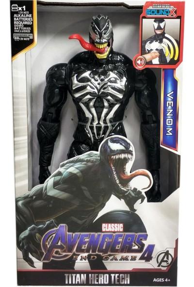 Avengers Venom 30 cm Figür Oyuncak Sesli Işıklı