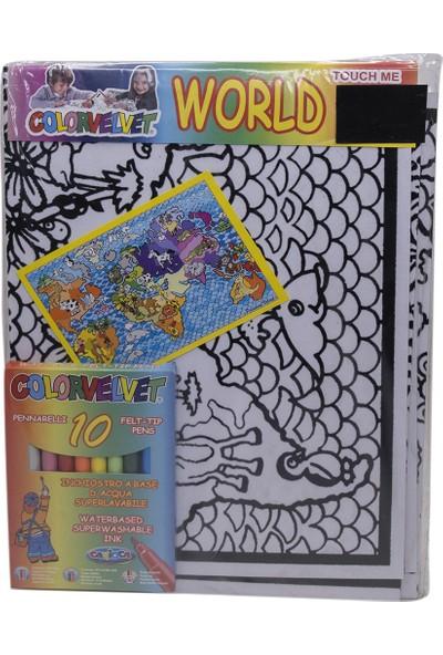 Carioca Colorvelvet Boyama Kartonu-Dünya Serisi