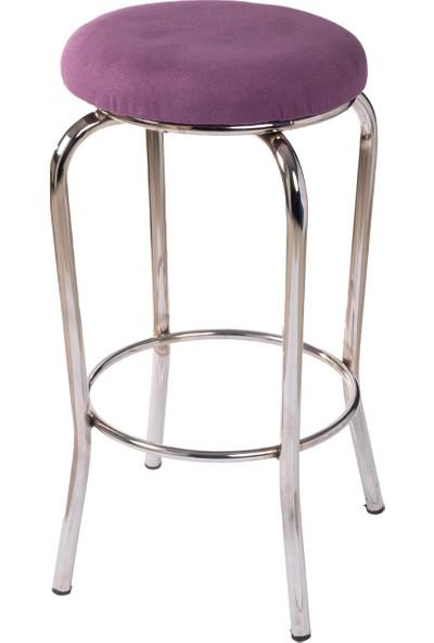 Ekip Shop Tabure Mutfak Sandalyesi Çift Çemberli Tay Tüyü Kumaş