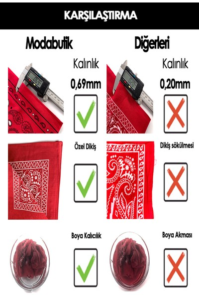 Moda Butik Kadın Leke Desenli Bandana 50X50 Kırmızı Siyah Dg0