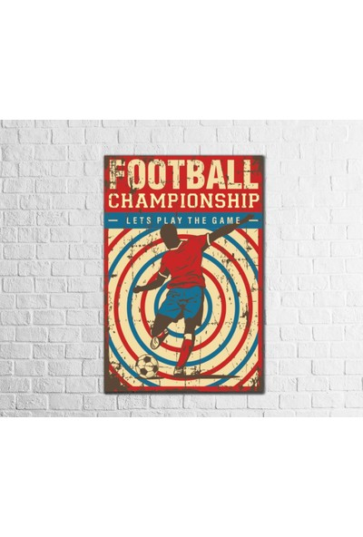 Fandomya Ahşap Poster Football Championship 12 x 17 Cm Çift Taraflı Bant