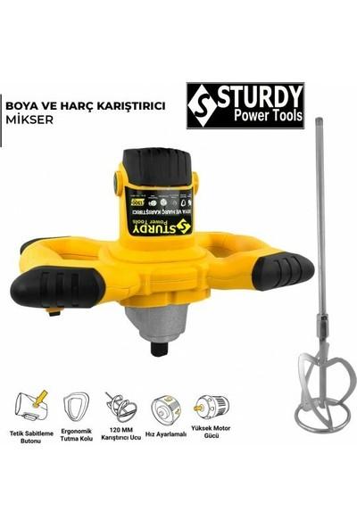 Sturdy Power Tools 3000 Watt 6 Kademe Hız Ayarı Boya ve Harç Mikseri Karıştırıcı