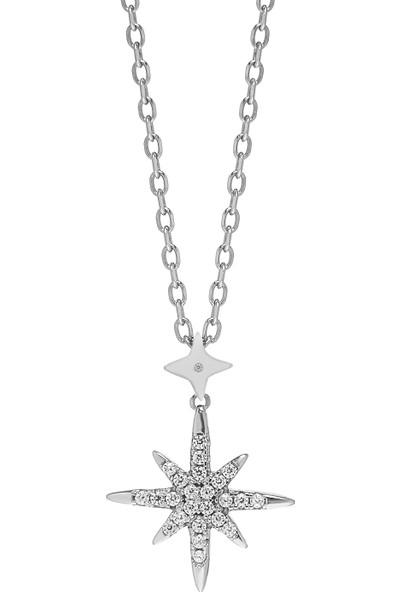Monemel Mini Kutup Yıldızı Kolye (Altın Kaplama)