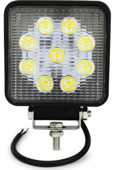 Hilal Shops Off Road Kare Sis Farı Sis Lambası 9 LED Su Geçirmez 12-24V Güçlü