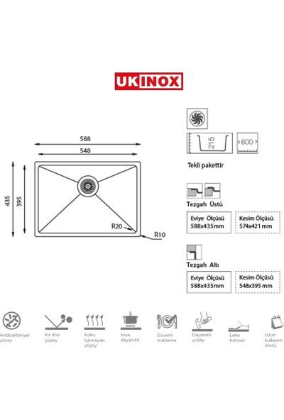 Ukinox Me 550 Çelik Eviye