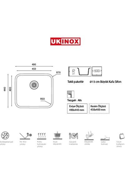 Ukinox D 450 Çelik Eviye