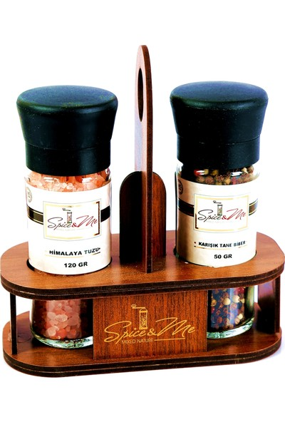 Spice&Me Spiceandme Tane Karabiber + Himalaya Tuzu Masaüstü 2'li Set