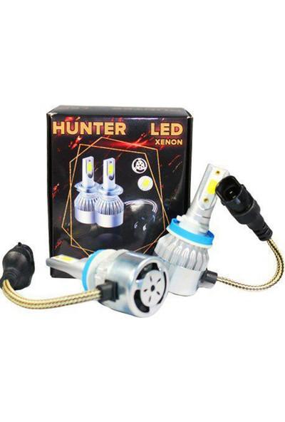 Hunter H11 LED Xenon Far Ampul Beyaz Şimşek Etkili 6000K 4400L - Hunter