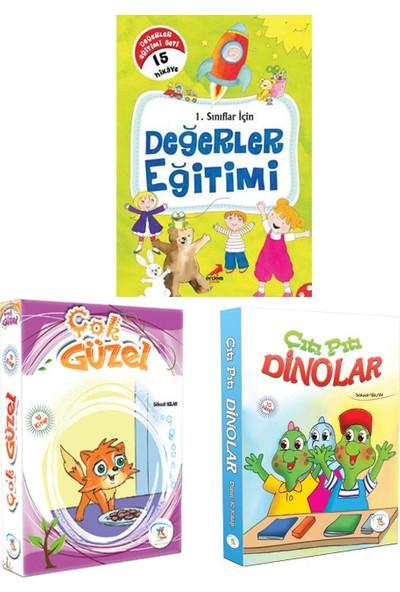 5 Renk Yayınevi 1. Sınıf Çok Güzel-Çıtı Pıtı Dinolar Hikaye Seti-Erdem Yayınları 1. Sınıf Değerler Eğitimi Hikaye