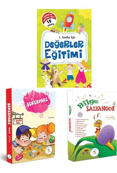 5 Renk Yayınevi 1. Sınıf Şekerpare-Bilge Salyangoz Hikaye Seti-Erdem Yayınları 1. Sınıf Değerler Eğitimi Hikaye Seti