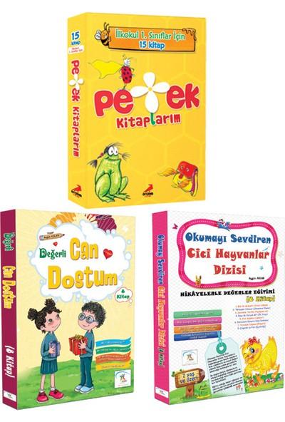 5 Renk Yayınevi 1. Sınıf Can Dostum(8'li)-Cici Hayvanlar(8'li) Hikaye Seti-Erdem Yayınları 1. Sınıf Petek Kitaplarım