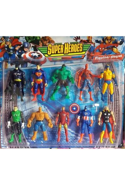 Avengers Spiderman Yenilmezler Super Heros 10 'lu Figür 14 cm