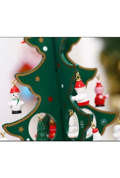 Kanaan Groups Yeni Yıl Yılbaşı Christmas Dekorasyon Çam Ağacı Ahşap