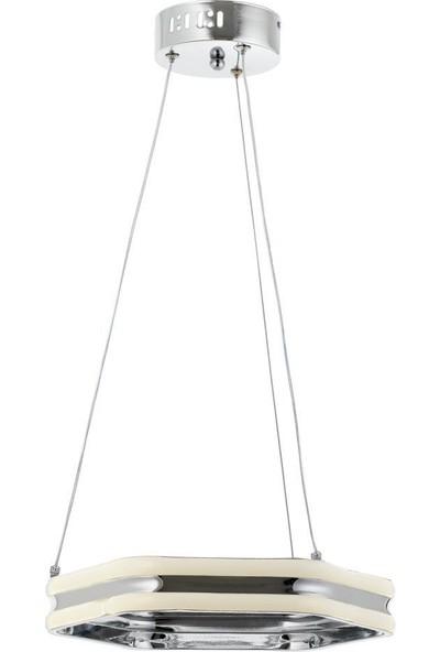 Eray Aydınlatma 928-1 Kck Altıgen Krom LED Avize