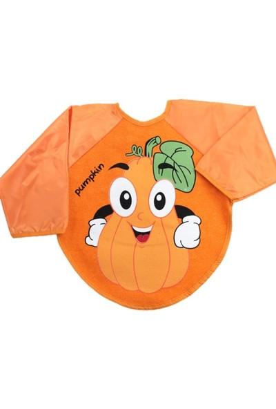 Kids Buude Belinay Giyilebilir Meyve Desenli Kollu Mama Önlüğü