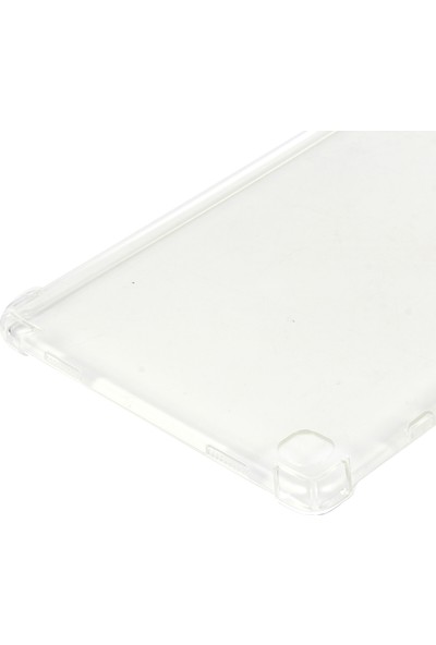 Kny Samsung Galaxy Tab A7 T500 10.4 Inç Için Ultra Korumalı Şeffaf Antishock Silikon Şeffaf