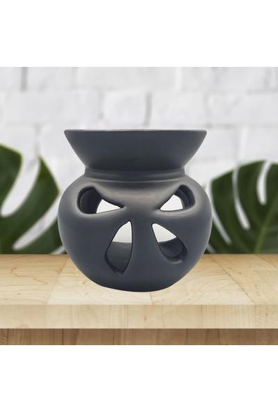 El Yapımı Siyah Kelebek Buhurdanlık Dekoratif Hediyelik -TU9635