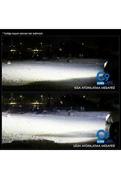 C9 Ultra Beyaz LED Xenon Soğutuculu Far Ampulü 9400 Lümen 6000K H1