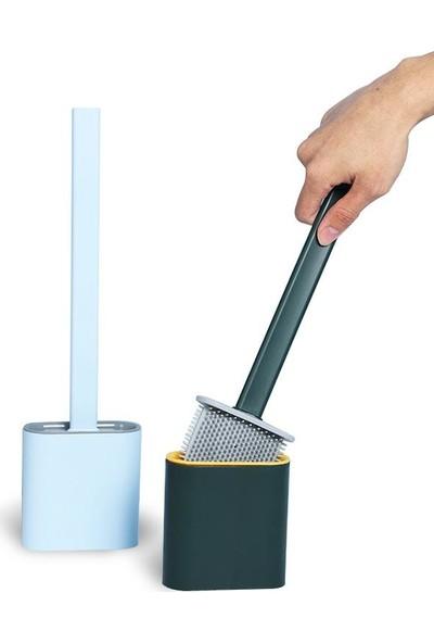 Viselia Tuvalet Fırçası Banyo Wc Temizlik Silikon Bükülebilir Fırça Seti