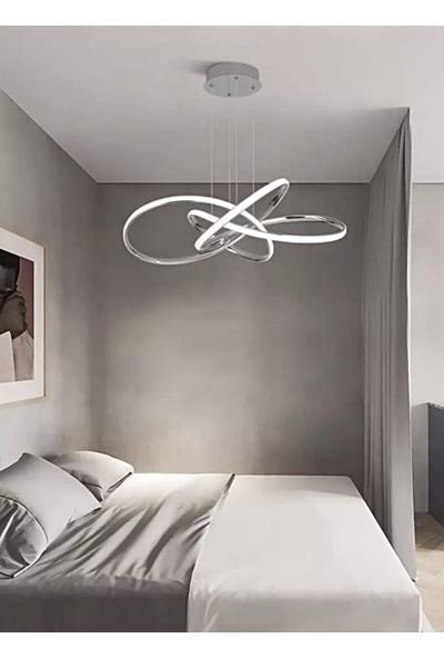 Burenze A+ Modern Sarkıt Power LED Avize Concept Ürün Beyaz Işık Krom BURENZE526