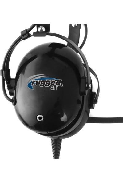 Rugged Air RA200 Genel Havacılık Pilot Kulaklığı Gürültü Azaltma Ga Çift Giriş Mp3 Müzik Girişi ve Kulaklık Çantası (Yurt Dışından)