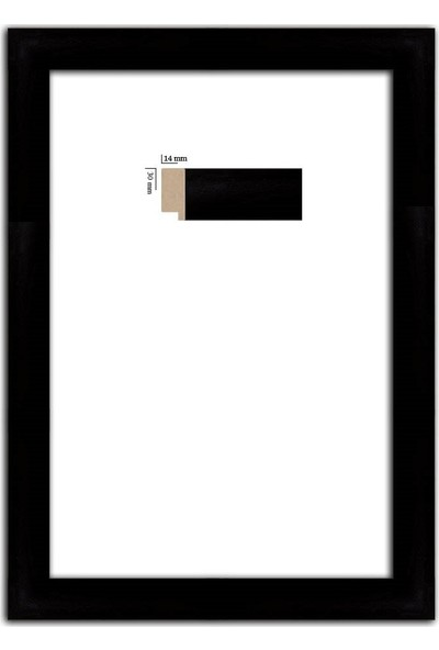 Selçuklu Sanat Puzzle Çerçevesi 30 mm 34 x 96 cm Siyah