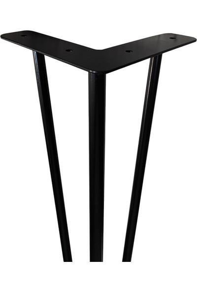 Abronya Masa Ayağı Sehpa Kütük Ahşap Dresuar Konsol Pingolu Ayarlanabilir 1 Adet 68 cm Metal Ayak
