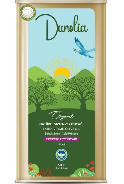 Dunolia Tarımda Kadın Dunolia Organik Natürel Sızma Memecik Zeytinyağı 5lt (Soğuk Sıkım)