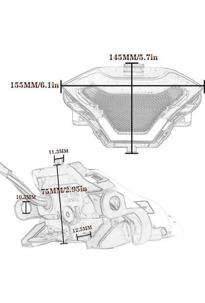 Buyfun Yamaha Yzf R3 R25 Y15ZR MT07 FZ07 LC150 İçin LED Dönüş (Yurt Dışından)