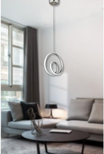 Luna Lighting Modern Luxury Sarkıt LED Avize Krom