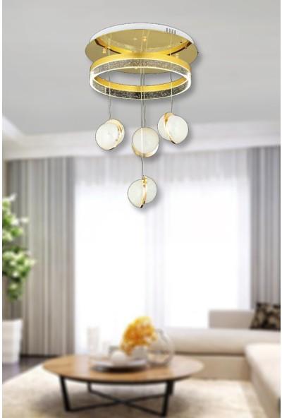 Luna Lighting 4lü Top LED Sarkıt Gold Sarı