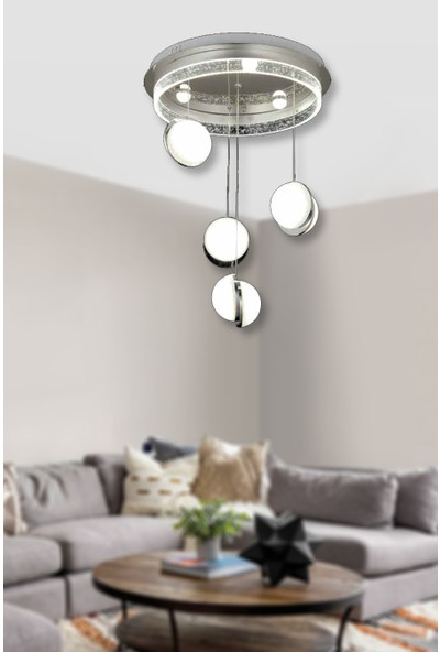 Luna Lighting Modern Luxury LED Avize 4lü Sarkıt