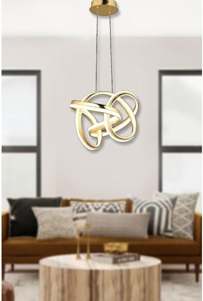 Luna Lighting Modern Luxury Sarkıt LED Avize Gold Sarı Toplu