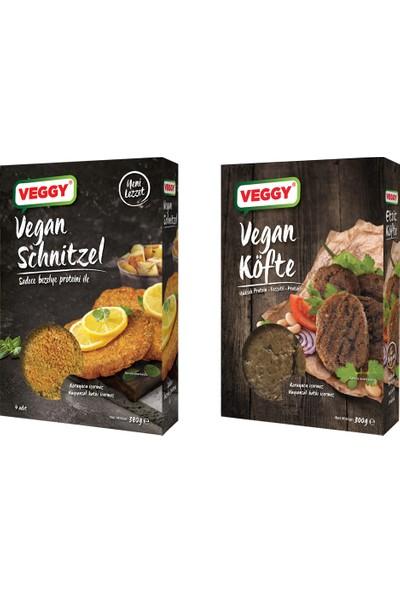 Veggy Vegan Burger 320 gr + Veggy Etsiz Schnitzel 300 gr